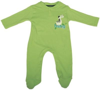 Mee Mee Baby Boy's Green Romper