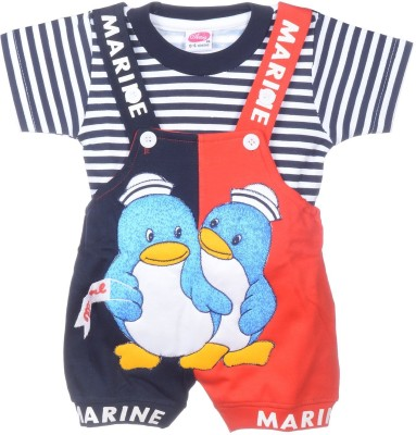 AMY Baby Boy's Blue Dungaree
