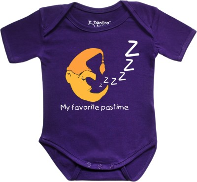 Tantra Baby Boy's Purple Romper