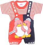 AMY Dungaree For Boys Printed Poly Cotto...