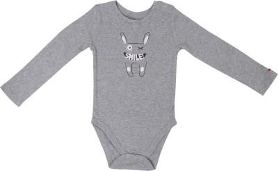 SAIAANSH Baby Boy's Grey Romper