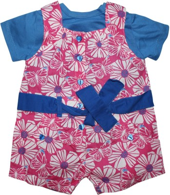 FS Mini Klub Baby Girl's Blue Dungaree