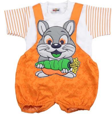 Koolkids Baby Boy's Orange Romper