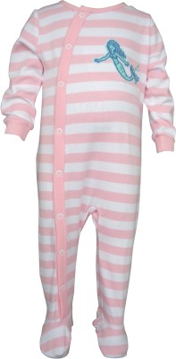Teddy's choice Baby Girl's Pink Romper