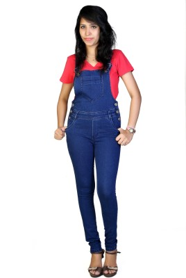 F FASHIONSTYLUS Women's Blue Dungaree