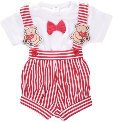 Toffyhouse Baby Boy's Red, White Romper