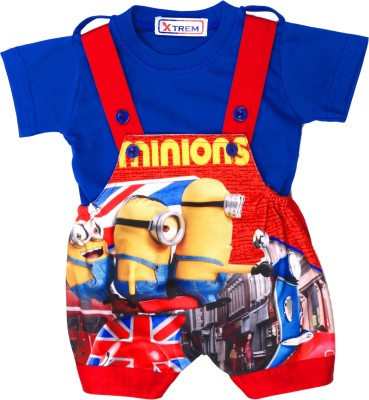 Xtrem Baby Boy's Red, Blue, White, Yellow Romper