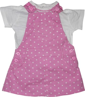 FS Mini Klub Baby Girl's Pink Dungaree