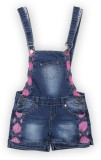 Lilliput Dungaree For Girls Solid Cotton...