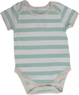 Mankoose Baby Boy's White, Green Romper