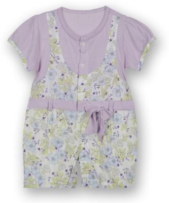 Lilliput Baby Girls Purple Romper
