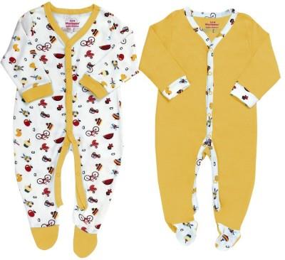 Morisons Baby Dreams Baby Girl's Yellow Romper