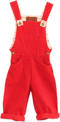 My Little Lambs Baby Girls Red Dungaree