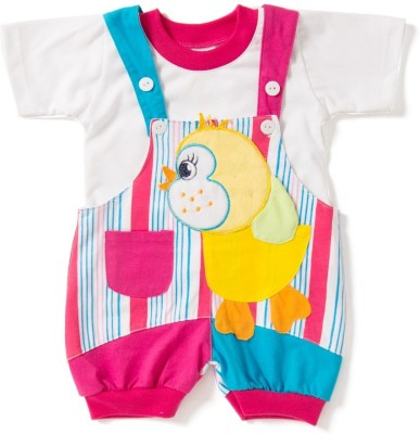 Camey Baby Girl's Pink Dungaree