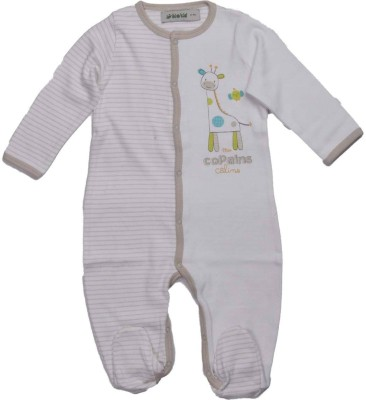 Bio Kid Baby Boy's White Romper