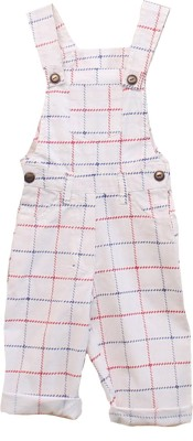 My Little Lambs Baby Boys White Dungaree