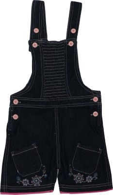 ChildKraft Dungaree For Girls(Blue)
