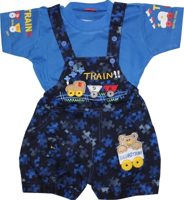 ZuZu Baby Boy's Blue Dungaree