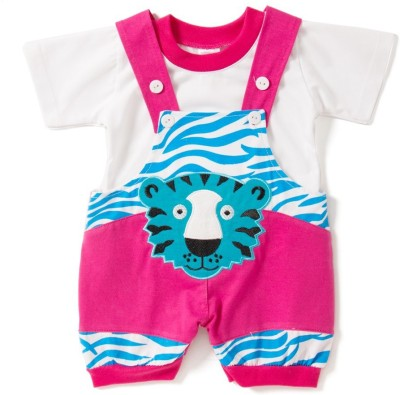 Icable Baby Boy's Pink Dungaree