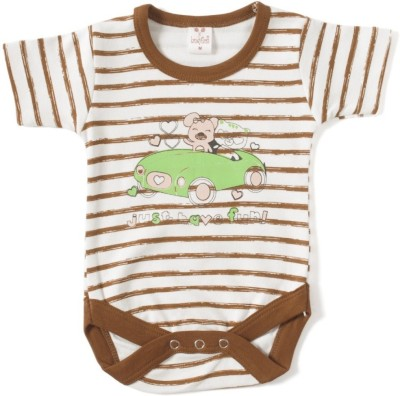 Kandyfloss Baby Boy's Brown Romper