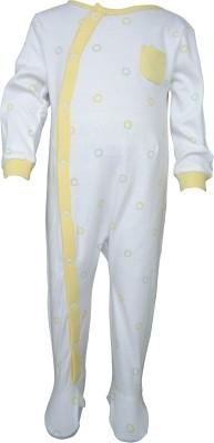Teddy's choice Baby Boy's White Romper
