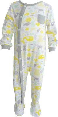 Teddy's choice Baby Boy's Yellow Romper