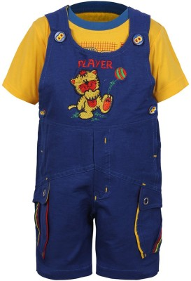 Jazzup Baby Boy's Blue Dungaree
