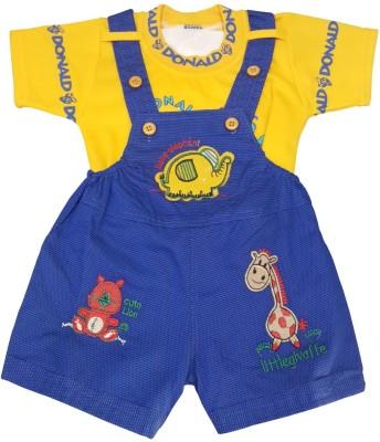 KABEER Baby Boy's Yellow Dungaree