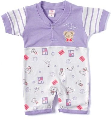 Kandy Floss Baby Boy's Purple Romper