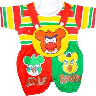 Smilee Baby Boy's Multicolor Dungaree