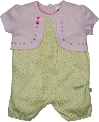 FS Mini Klub Baby Girl's Yellow Romper