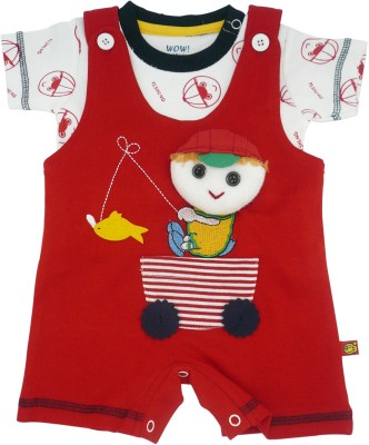 WoW Baby Boy's Red Romper