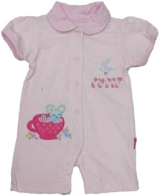 Johny Johny Yes Papa Baby Girl's Pink Romper