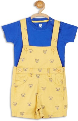 612 League Baby Boy's Yellow Dungaree