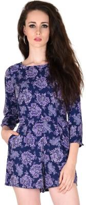 Sassafras Women's Dark Blue, Purple Romper