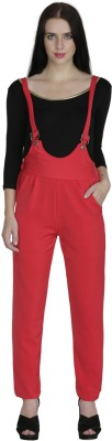 Svt Ada Collections Women's Red Dungaree