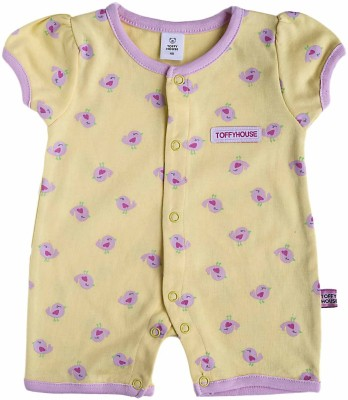 Toffyhouse Baby Girl's Yellow Romper