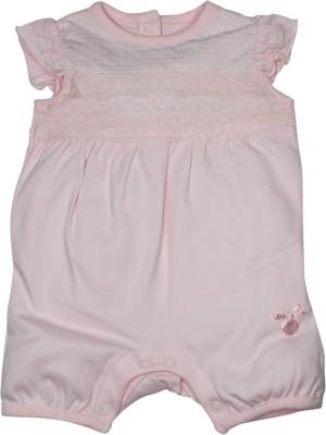FS Mini Klub Baby Girl's Pink Romper