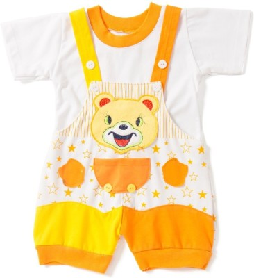 Icable Baby Boy's Orange Dungaree