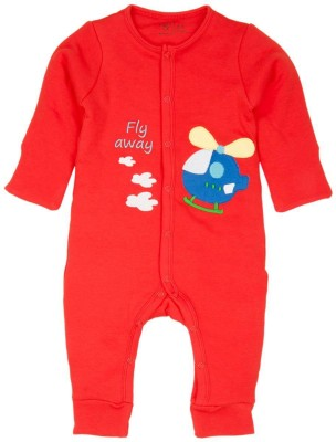 Mom & Me Baby Boy's Red Romper