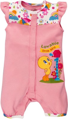 Warner Brothers Baby Girl's Pink Romper