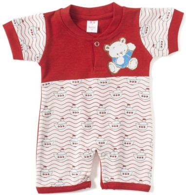 Kandyfloss Baby Boy's Red Romper