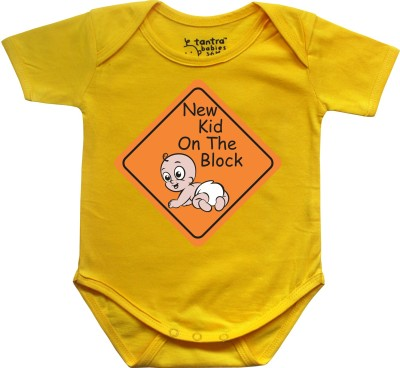Tantra Baby Boy's Yellow Romper