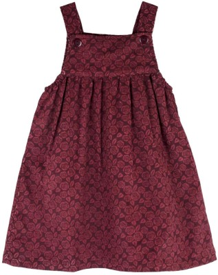 Snuggles Baby Girl's Maroon Dungaree
