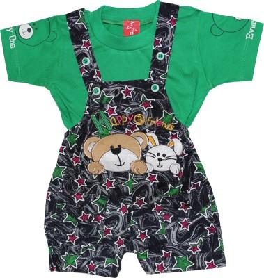 ZuZu Baby Boy's Green Dungaree