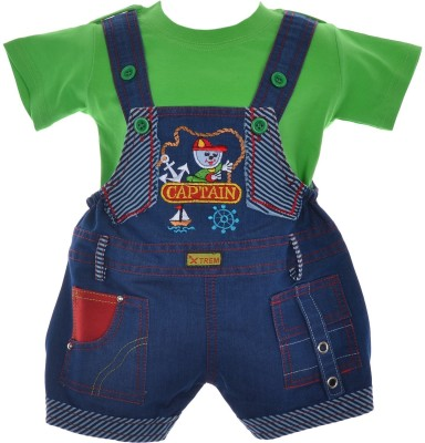 Xtrem Baby Boy's Blue, Red, Green, Purple, Gold Romper