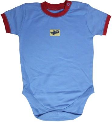 Mankoose Baby Boy's Blue, Red Romper