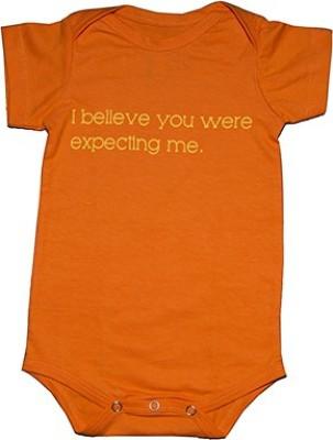 You Got Plan B Baby Boy's Orange Bodysuit