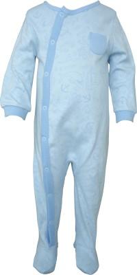 Teddy's choice Baby Boy's Blue Romper