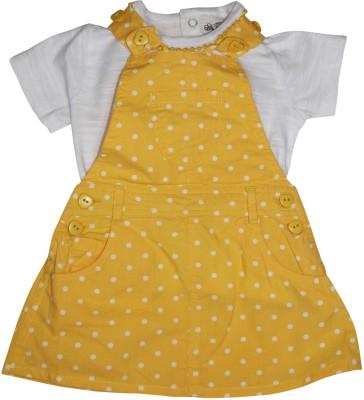 FS Mini Klub Baby Girl's Yellow Dungaree